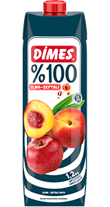 DİMES %100 Elma-Şeftali Suyu
